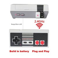 ingrosso shock usb-Wireless USB Plug and Play Gaming Controller Gamepad per Nintendo per NES Mini pulsanti Classic Edition con ricevitore senza fili