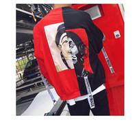 Wholesale clown jacket - Spring and Autumn Men Clown Coat Sunscreen Clothing New Baseball Uniform Korean Tide Handsome Jacket
