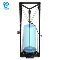Wholesale 3d printer aluminum - Free shipping Auto Level HE3D The Complete delta 3d printer kit Newly upgraded metal nozzle k280 open source OSSEL ROSTOCK