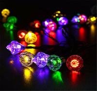 Wholesale Led String Diamond Lights - 4.8 M Diamond Solar String Lights 20 LED Outdoor Wedding Festival Holiday Decoration Lamp Waterproof