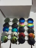 Wholesale mirrors children - 13 colors Sun Glasses for Children Cool Mirror Reflective Metal Frame Kids Sunglasses Children's Glasses