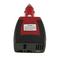 inverter venda venda por atacado-2016 1 Pc Car Auto Power Converter Inverter Adaptador de Carregador Com Carregamento USB DC 12 V para AC 220 V Profissional venda quente