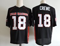 Wholesale Film Machines - Mens The Movie Mean Machine Sandler Football Jersey adults Stitched Black #18 Paul Crewe The Longest Yard film Jersey S-3XL