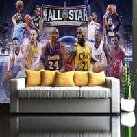 Wholesale Special For Games - Basketball All Star wallpaper Custom 3D Graffiti wall mural HD image Photo wallpaper Boys Bedroom Living Room Hotel Basketball game Decor