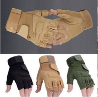 Wholesale Summers Motorcycle Gloves - Outdoor Sports Motorcycle Cycling Tactical Gloves Army Half Finger Airsoft Combat Tactical Gloves Apparel & Accessories