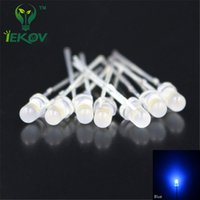 Wholesale led 3mm diffused - Wholesale- 1000pcs LED 3MM Diffused Blue Leds Round Top Urtal Bright Bulb Light Lamp 3MM Emitting Diodes Electronic Components