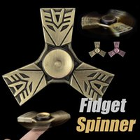 Vehicle speed bearings - Fidget Spinner Transformer metal Spinner Anti Anxiety Pressure Reducer Min High Speed EDC Gyro Hand Spinners Bearing Metal With Package