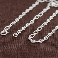 Wholesale Antique Jade Rings - 5mmWholesale S925 Sterling Silver Necklace Ring fashion sweater chain necklace antique crafts new free shipping