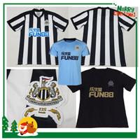 Wholesale Soccer Jersey Customized Yellow - New Newcastle United home Soccer Jersey 17 18 Newcastle United Soccer Shirt Customized football uniform 2017 2018 Sales