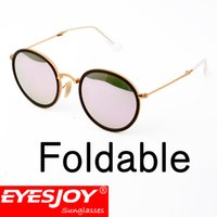 Wholesale Yellow Frame Folding - Top Quality Summer Pilot Sunglasses for Men Women Gafas de sol oculosQuality Rey band Sunglasses Metal Folding Fram