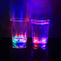 Wholesale Led Barware Wholesale - Brand new Colorful LED Flashing Rocks Barware Acrylic Beer Mug Cola Drink Cup 24 pcs box for Party Bar Decoration Supplies