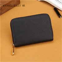 Wholesale Small Mini Cell - 7 colors small wallets fashion women MICHAEL KALLY MK wallet famous brand single zipper wallets female pu leather purse