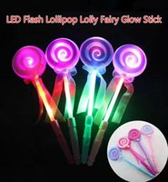 Free EMS 100pcs 33 * 9cm LED Flash Glow Lollipop Lolly Candy Fairy Sticks Flash Sticks illuminé Wand Party Disco KTV Xmas jouets pour enfants