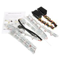 Wholesale Led Strips For Headlights - Autos FlexibleTear Eye Dual Color LED Strip DRL Light &Turn Signal For Headlight yellow white colour
