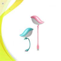 tableros de energía portátil al por mayor-Nueva Cute Bird Night Light USB LED Lámpara de luz para Mobile Power Bank Laptop Key Board Protección para los ojos Dormitorio Lámpara de noche