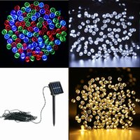 Wholesale Christmas Balls For Sell - 2017 crazy selling 10M 100leds tring Decoration Light Solar String Light For Party Wedding led twinkle lighting Christmas decoration lights