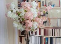ingrosso pianta di sakura-Singolo albero di fiori di ciliegio con foglie 4 rami di piante artificiali albero premium varie dimensioni sakura bloom silk Imitato fiore finto