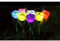 ingrosso lampade per la decorazione del balcone-Garofano della lampada della luce del fiore di energia solare della lampada del LED per il giardino all'aperto del prato inglese del cortile delle prugne del cortile