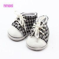 Wholesale Toy Grid - 18 inch 45CM American Girls Dolls grid sneaker Shoes For Alexander Doll Accessory Baby Born Doll Mini Toys shoes