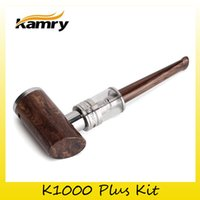 Wholesale kamry x6 - Authentic Kamry K1000 Plus Epipe Kit With 3.0ML X6 Plus Atomizer 1100mAh Battery Wood Grain Body Vape Kit 100% Genuine 2209023