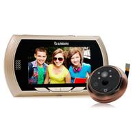 Wholesale digital peephole viewers - Danmini Smart Digital Door Viewer Peephole Camera with PIR Motion Detection Night Vision DND Function 4.3 inch HD Color Screen Smart +B