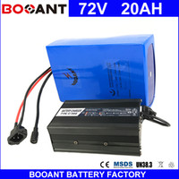 Wholesale Battery Scooters - BOOANT 72V 20AH Scooter Battery For Bafang 3000W Motor Li-ion Battery pack 20S 8P E-Bike Li-ion Battery pack with 84V 5A charger