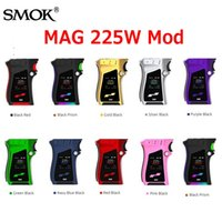 Wholesale Mag Led - Original SMOK Mag 225W TC Box Mod with Glowing LED 18650 Battery Ecig Vape Mods Fit TFV12 Prince Tank 100% Authentic