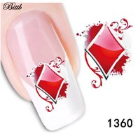 Bittb Nail Art Stickers Cuore Spade Club Diamante Fai da te Fibra Makeup Nail Tip Pasta Manicure Foil Make up Decals Tool