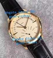 Wholesale Ks Leather - Top Luxury KS Factory Mens Automatic Miyota Cal.2460R31 R7 Watch Men Day Time Patrimony Rose Gold Watches Calf Leather Band Wristwatches