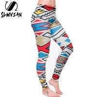 джинсы женские оптовых-Оптовая торговля-SLMVIAN новое прибытие новинка 3D печатных мода женщины леггинсы пространство галактики leggins галстук краситель фитнес брюки