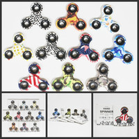 Wholesale Wholesale Retail Toys - 2017 Camo Fidget Spinners toys Camouflage Gyro Toys Hand spinner with lights Toy For Decompression Anxiety Toys with retail box 10 colors