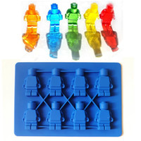 Wholesale Chocolate Sweet Moulds - Lego Minifigure Ice Cube Tray Silicone Candy Mold Sweet Chocolate DIY Moulds