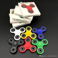 Wholesale Fidget Spinner Hand Spinner Triangle Tri Acrylic Plastic Ball Desk Focus Toy EDC For Kids Adults Finger Spinning DHL Free
