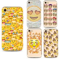 Wholesale Cute Phone Accessories - Cell Phone Accessories Cases 2017 fashion Geometry Painting Cute Emoji Pattern Effect Case Cover Defender For iPhone 5S 6 6s plus 7 7Plus