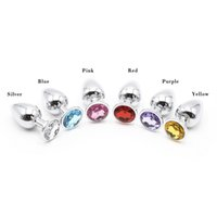 Wholesale Good Quality Butt Plugs - HOT TIEM Medium Super Quality Deluxe Steel Fetish Plug Anal Butt Jewelry for Fetish Kinky Sex Love Games Personal Sex Massager Good Valentin
