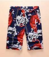 Wholesale Tiger Print Panties - Deluxe Summer style Casual shorts Tiger Print men 2017 Cotton Mens short Panties male cotton beach Trunks M-3XL