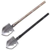 Wholesale Tool Survive - Multifunction fold outdoor Survive Shovel Camp Adventure shovel Self-defense camp shovels Emergency portable Engineer shovel DHL free ship