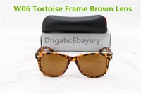 Wholesale Mix Order Sunglasses - 100pcs DHL Shipping Hot Sale Fashion Sunglasses Unisex UV400 Beach Sun Glasses Tortoise Brown Lens 50mm 54mm Lens 20 Colors ,Can Mix Order