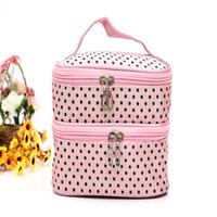 Wholesale Vanity Handbag - Wholesale- New Arrivals Multifunction Makeup Organizer Bag High Quality Travel Cosmetic Bag Toiletry Beauty Women Handbag Pouch Vanity Case