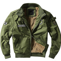 Wholesale Military Uniform Long Coat - New Men's Flight Jackets Military Uniform Casual Jacket multi-pocketed Tooling Jackets Military Tactical Jacket Men coat 2018