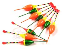 Atacado- 10 pcs Mix Size Color Fishing bobber Plastic Cork pesca Fishing Tackle Floats Set Bulk
