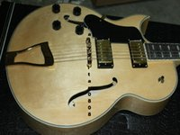 Wholesale Electric Guitar Semi Hollow Left - Free Shipping Custom Left Hand Natural 175 Classic Jazz Electric Guitar Wooden In Stock Top