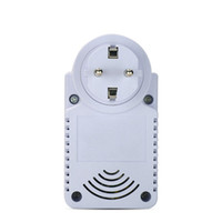 Wholesale Gsm Temperature Control - GSM Power Plug Socket With Temperature Sensor Intelligent Temperature Control Socket SMS Remote Control GSM Switch Ann