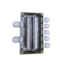 Wholesale waterproof electrical plugs for sale - Group buy IP65 Waterproof Cable Distribution Junction Box way In way Out mm with UK2 B Din Rail Terminal Blocks