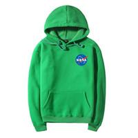 galaxy space pullovers al por mayor-2017 Nueva Moda Pareja NASA Impresión Galaxy Star Space Cotton Hoodies Sudaderas Para Hombres Mujeres Casual Pullover Hip Hop Hoodies