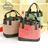 Wholesale Hot Cold Thermal Bags - Wholesale- Insulated Cold Oxford cloth Stripe Picnic Totes Carry Case Hot Sale Thermal Portable Picnic Bag for Outdoor Travel