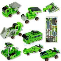 Wholesale Toy Bulldozers - 7 in 1 Cars Kit Solar Powered Car DIY Building Kit Concept Racer Solar Car Dump Truck Bulldozer Rechargeable Educational Toys for Kids