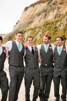 Wholesale Tie Color For Grey Suit - Charcoal Grey Wedding Vest and Pants For Men Slim Fit Mens Wedding Tuxedos Designer Mens Suits (Vest+Pants+Tie)