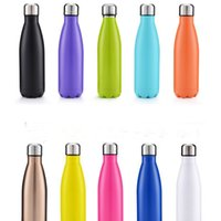 Wholesale healthy hands - Good quality water Bottle Double Layers Vacuum 304 Stainless Steel 500ml Cola Bottle Coke cup Beer Mug Creative Cup Healthy Drinking Water
