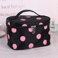 Wholesale Vanity Handbag - Wholesale- Women Nylon Storage Handbag Portable Cosmetic Bag Organizer Travel Toiletry Professional Makeup Bag Maleta De Maquiagem Vanity